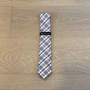 Ben Sherman Silk Tie (Gray/Orange)